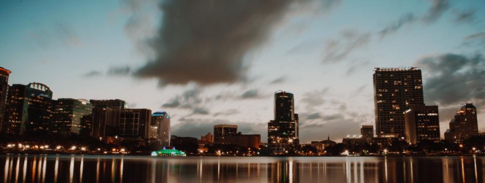 Orlando sunset skyline